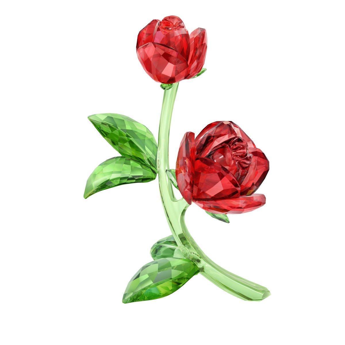 Figúrka SWAROVSKI RED ROSE