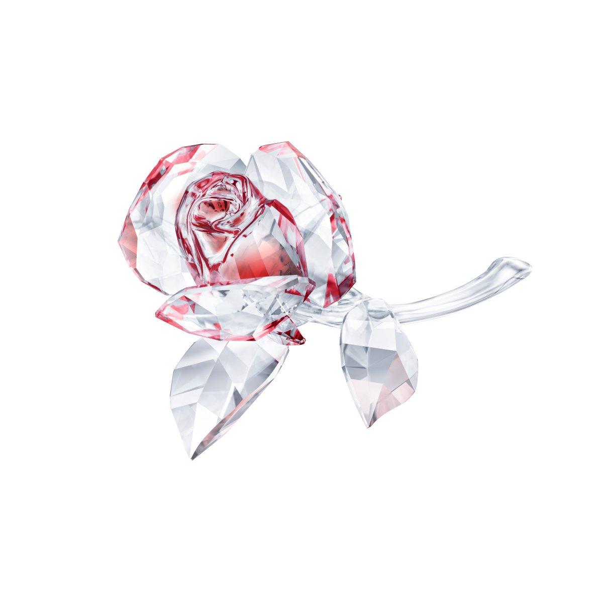 Figúrka SWAROVSKI BLOSSOMING ROSE, RED