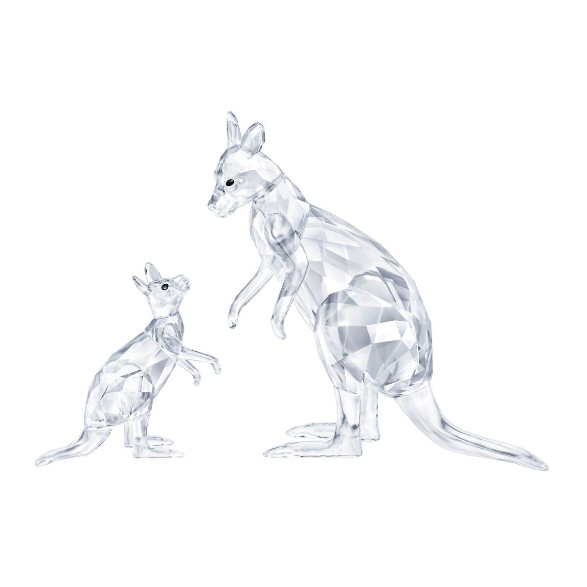 Figúrka SWAROVSKI KANGAROO MOTHER WITH BABY