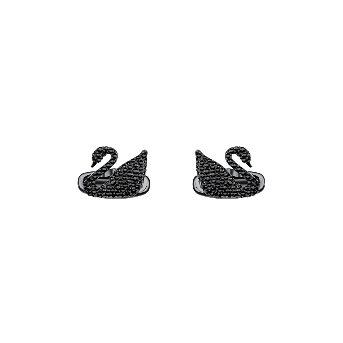 Manžetové gombíky SWAROVSKI SWAN:CUFFLINKS JET/PBK