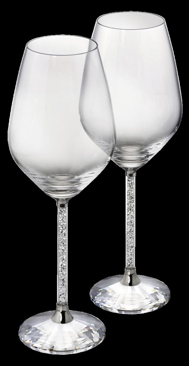 SWAROVSKI CRYSTALLINE WHITE WINE GLASSES (SET 2)