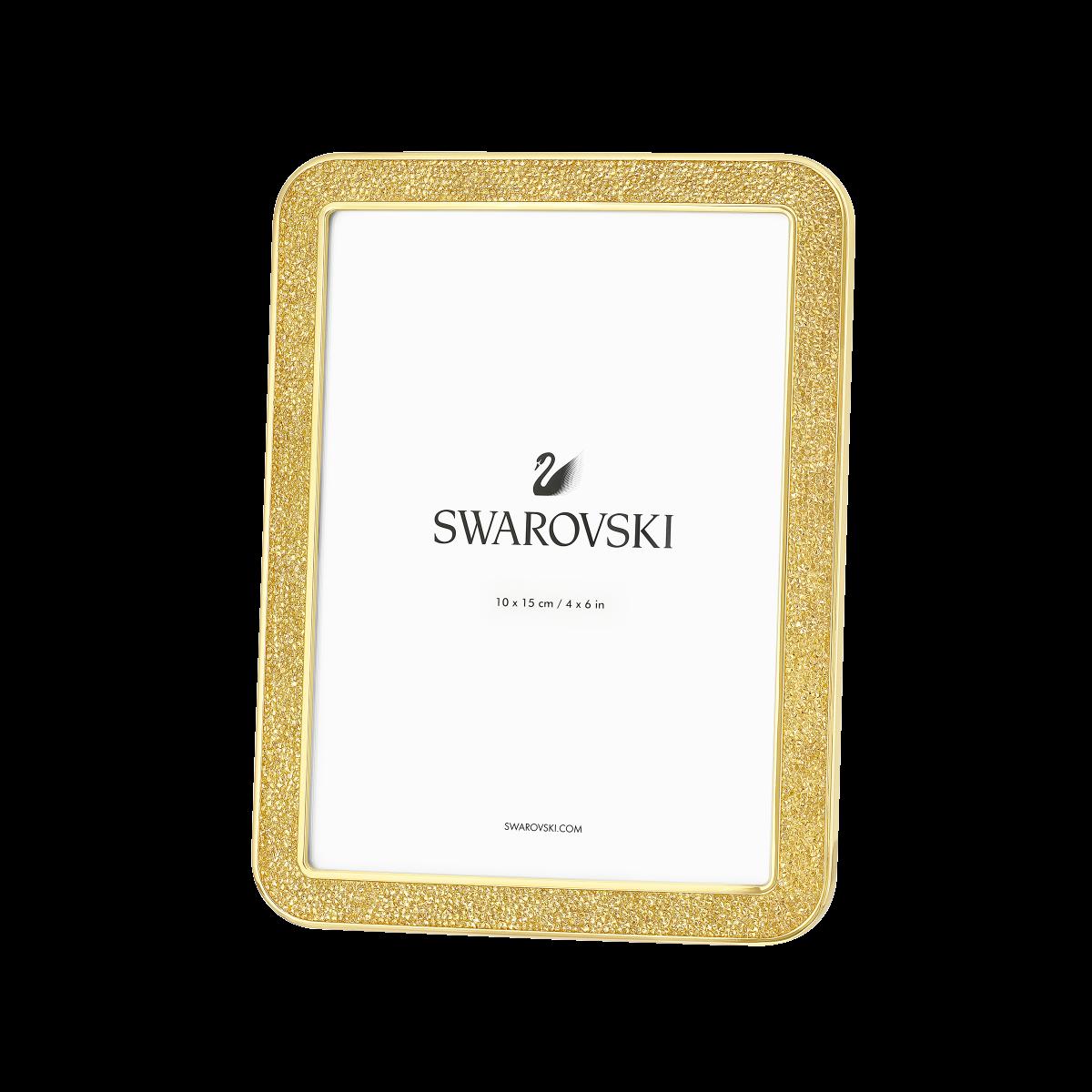 SWAROVSKI MINERA PICTURE FRAME SMALL GOLD TONE