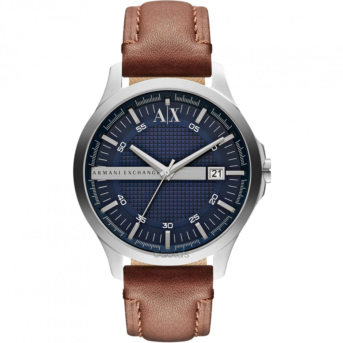 Hodinky ARMANI EXCHANGE Navy Dial Brown Leather Men's Watch