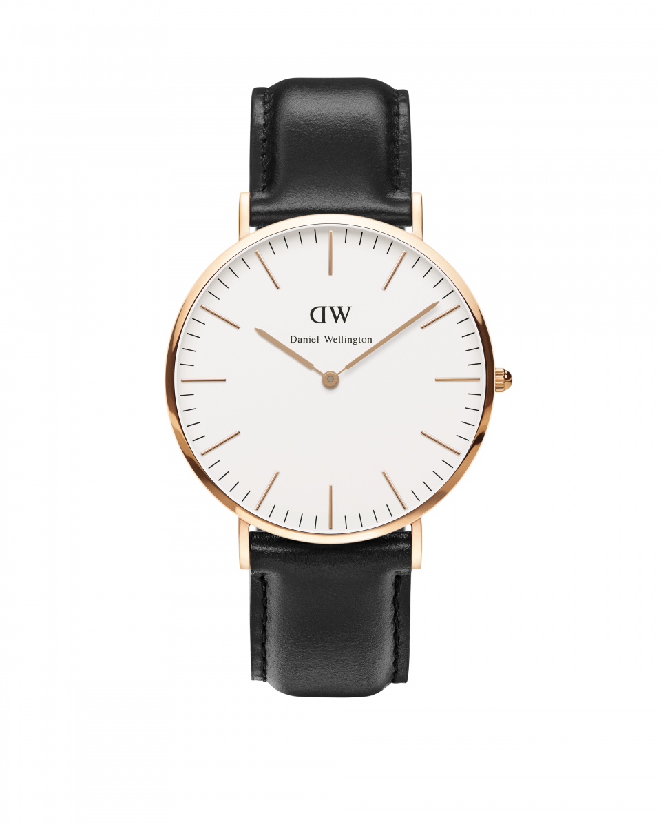Hodinky DANIEL WELLINGTON Classic Sheffield Rose Gold 40mm