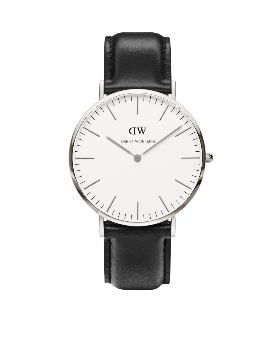 Hodinky DANIEL WELLINGTON Classic Sheffield Silver 40mm