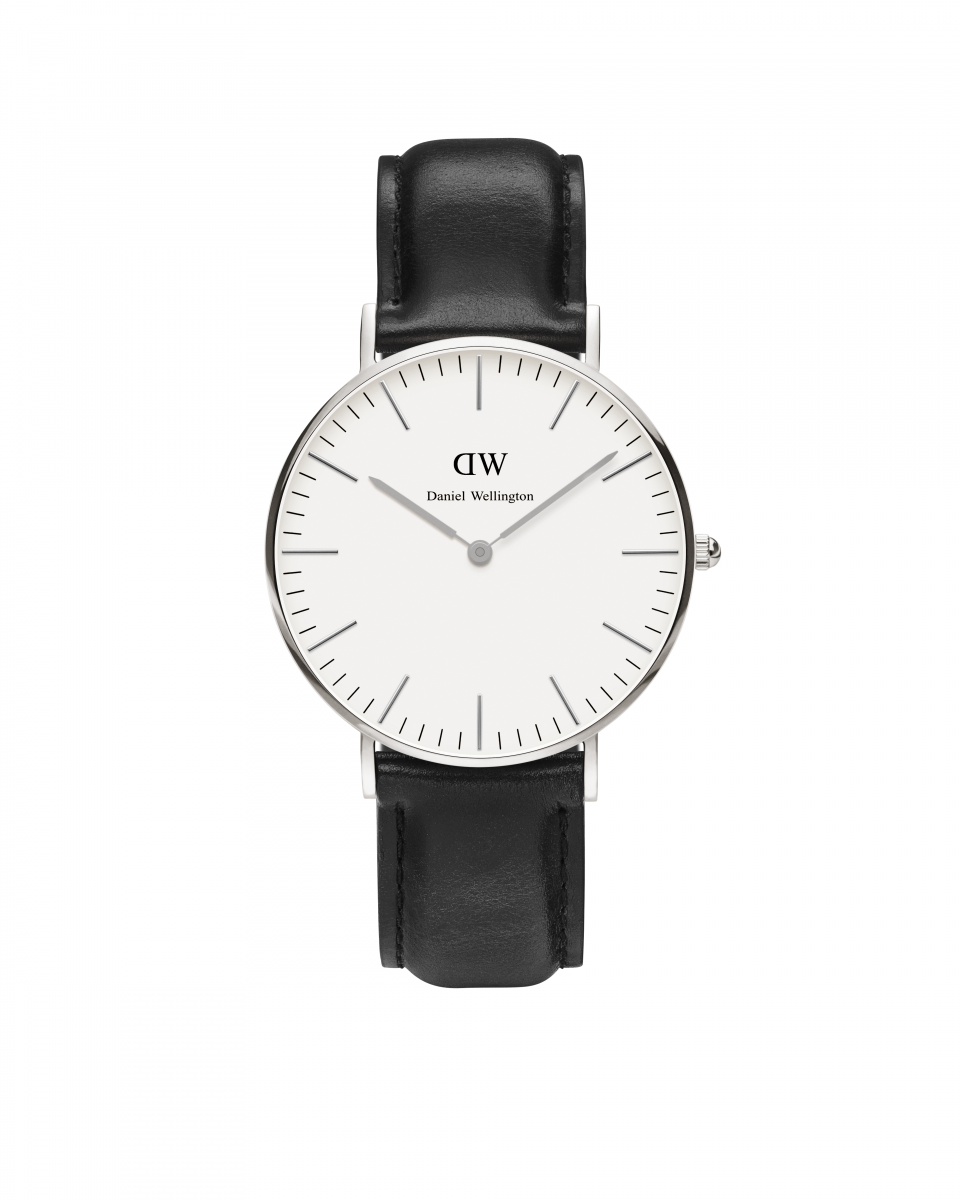 Hodinky DANIEL WELLINGTON Classic Sheffield Silver 36mm