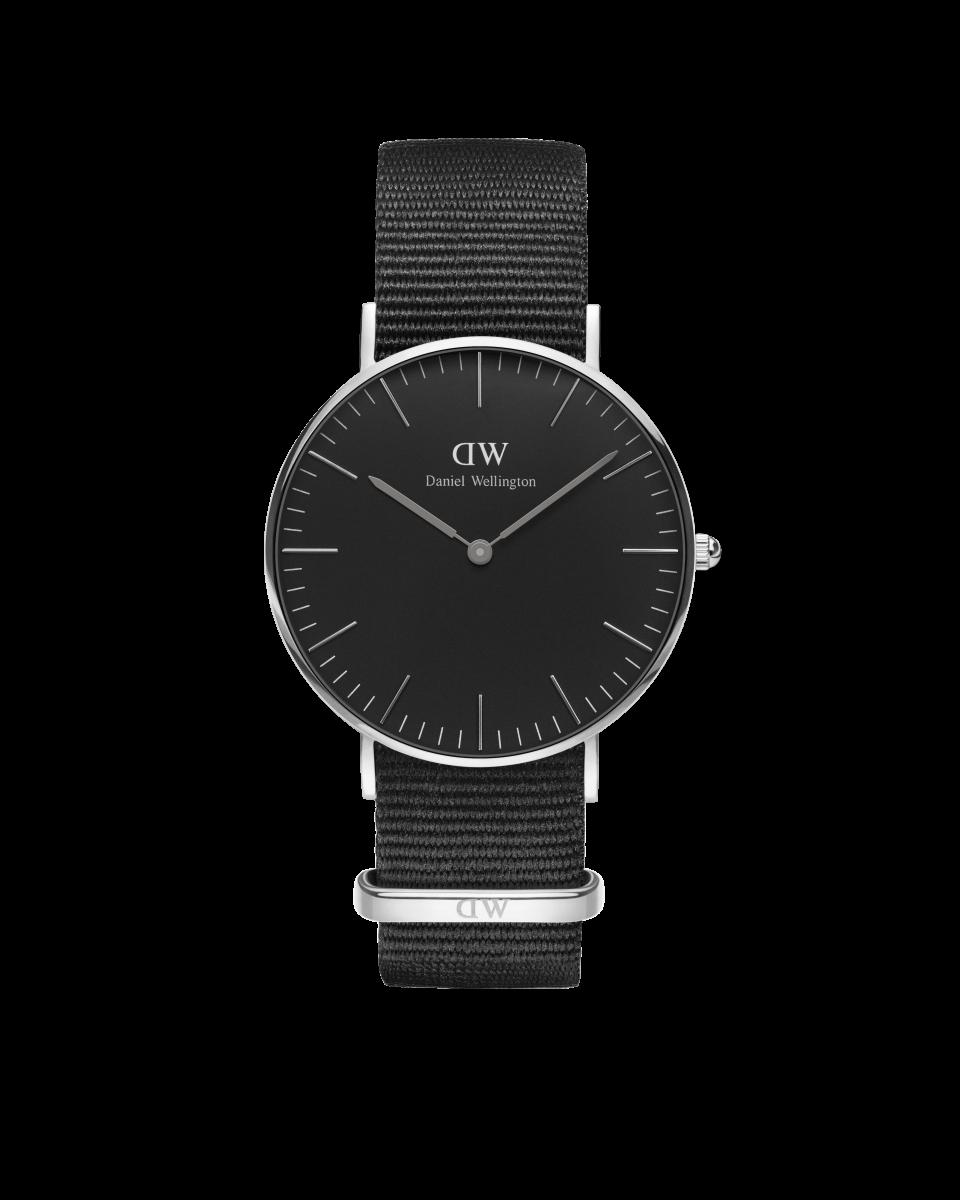 Hodinky DANIEL WELLINGTON Classic Black Cornwall Silver 40mm
