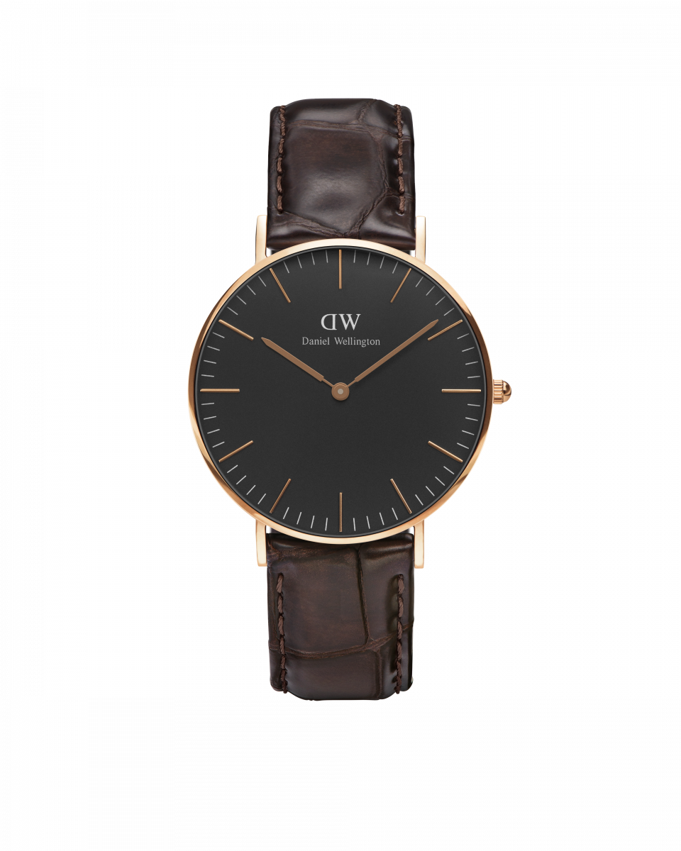 Hodinky DANIEL WELLINGTON Classic Black York Rose Gold 36mm
