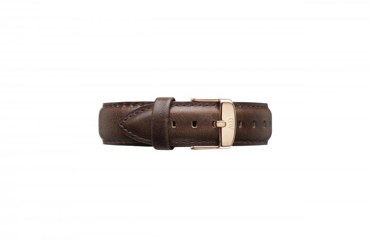 Kožený remienok DANIEL WELLINGTON Dapper Bristol Rose Gold 19mm