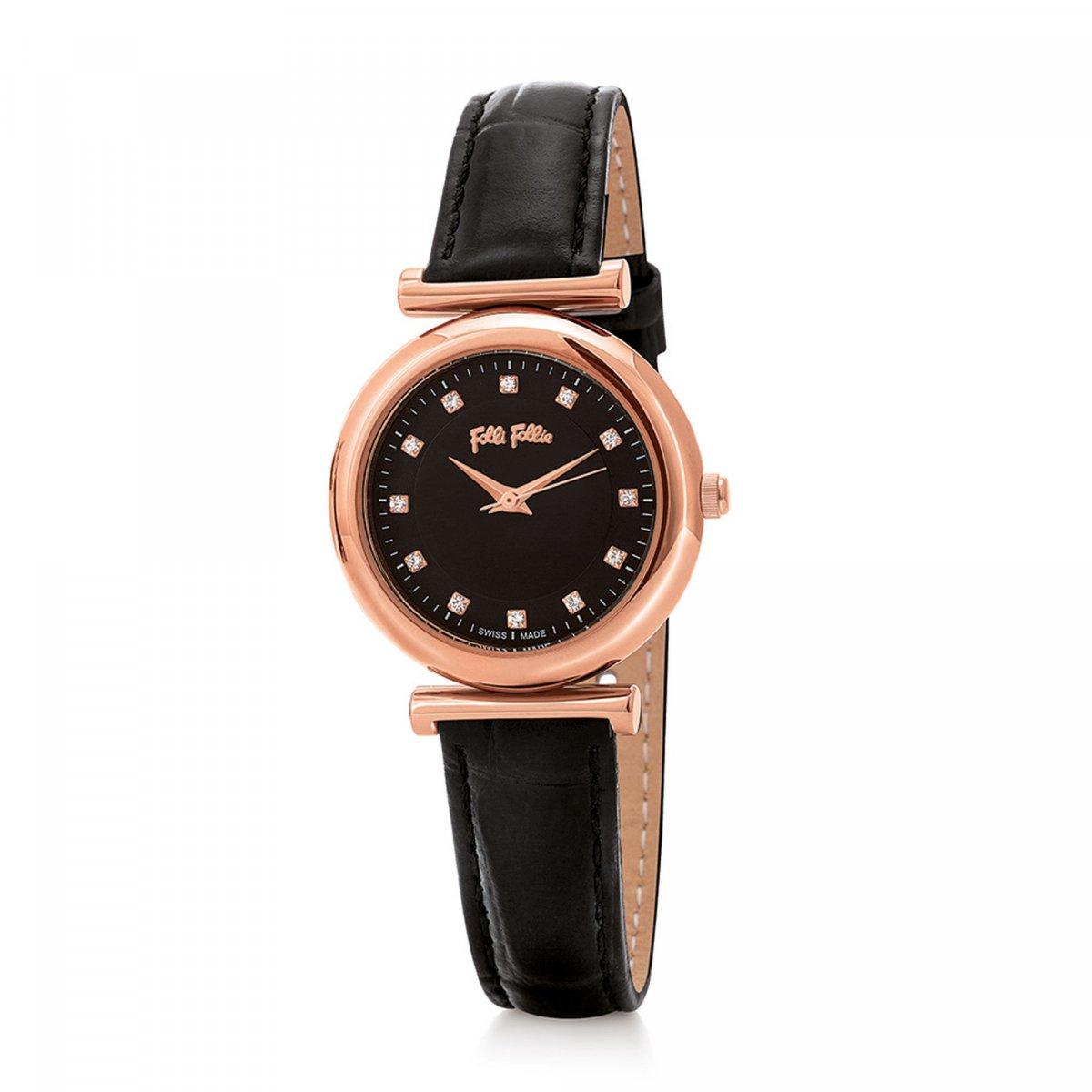 Hodinky FOLLI FOLLIE Sparkle Chic Small Case Leather Watch