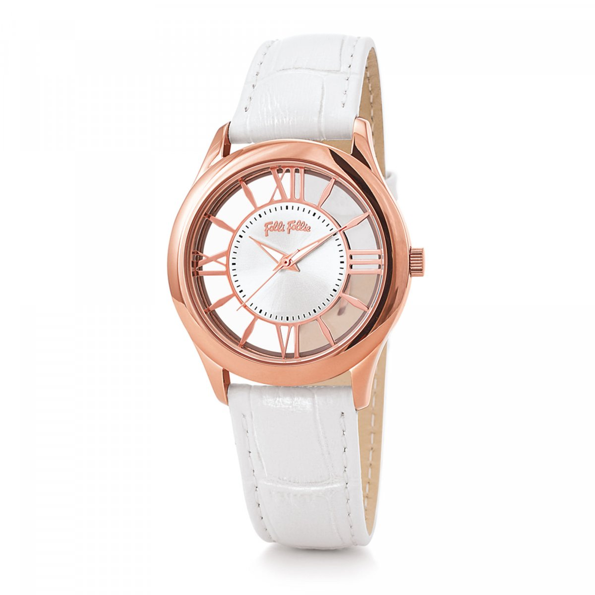 Hodinky FOLLI FOLLIE Time Illusion Medium Case Leather Watch