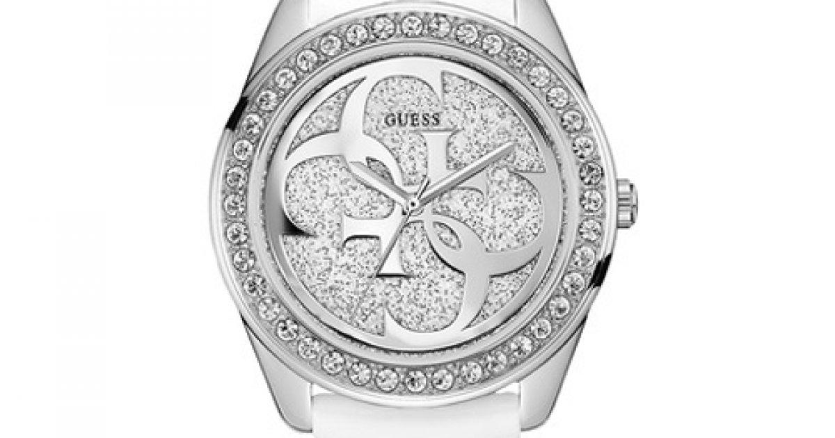 Bielo-strieborné hodinky GUESS W0627L4  883f562e276