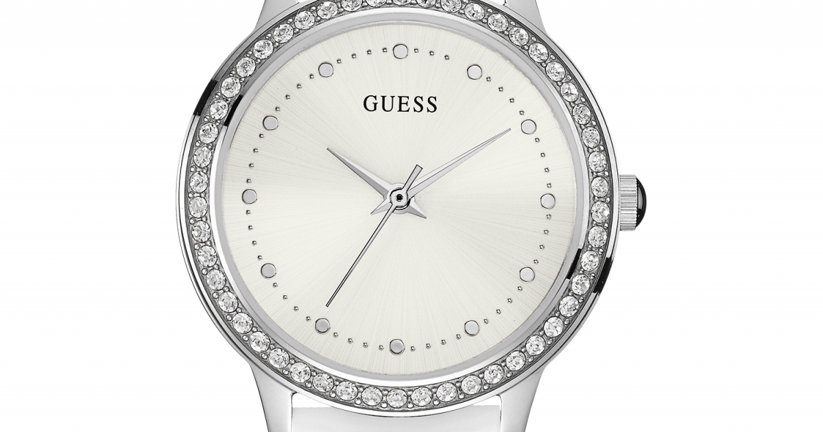 709f82437 Bielo-strieborné hodinky GUESS W0648L5 | MOLOKO