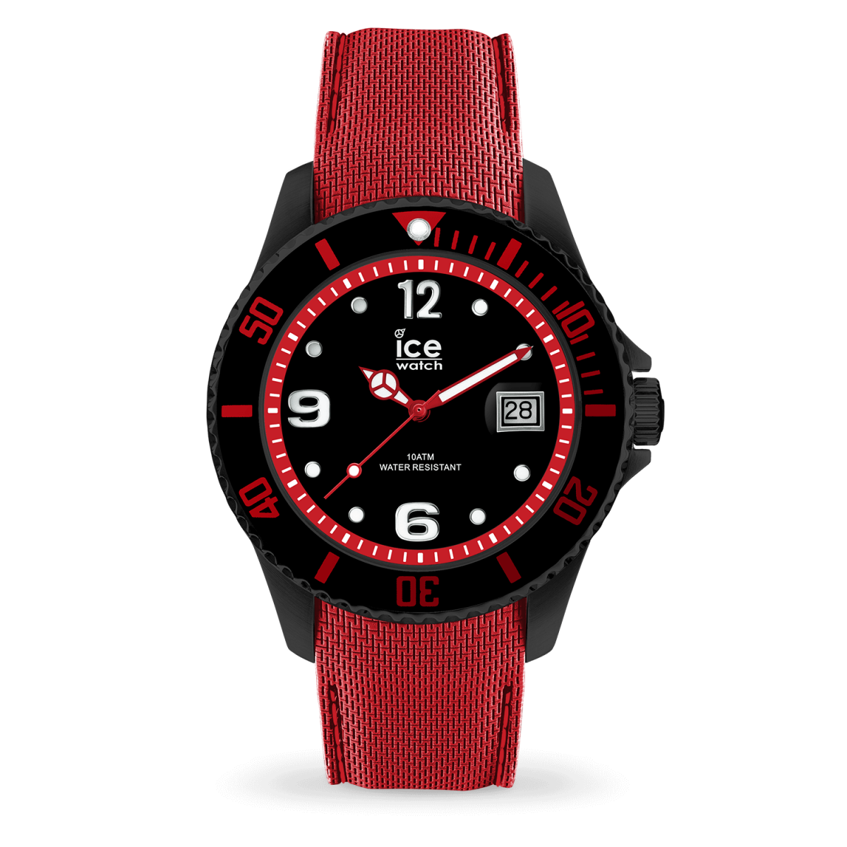 Hodinky ICE WACTH ICE STEEL BLACK RED LARGE