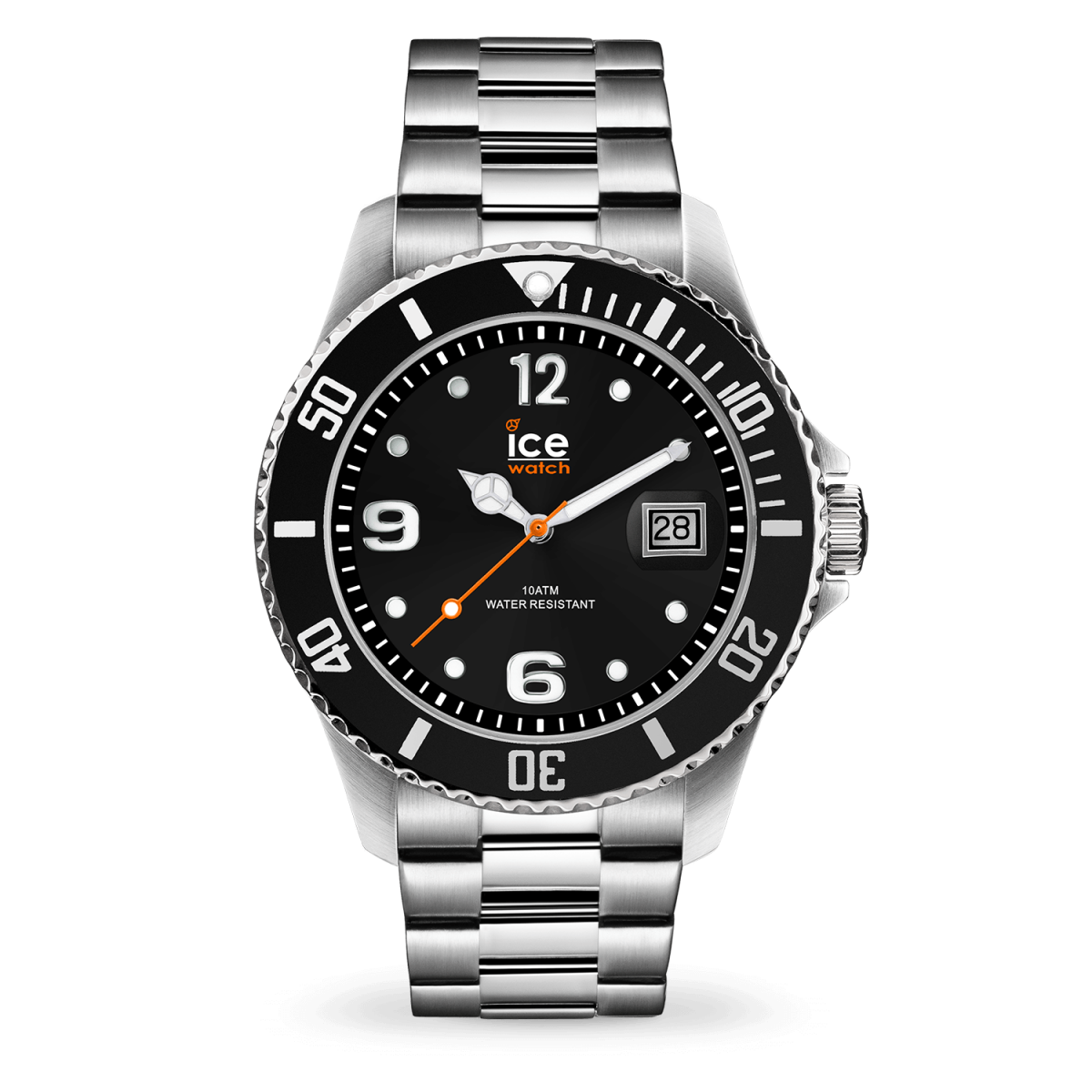 Hodinky ICE WATCH ICE STEEL BLACK SILVER LARGE