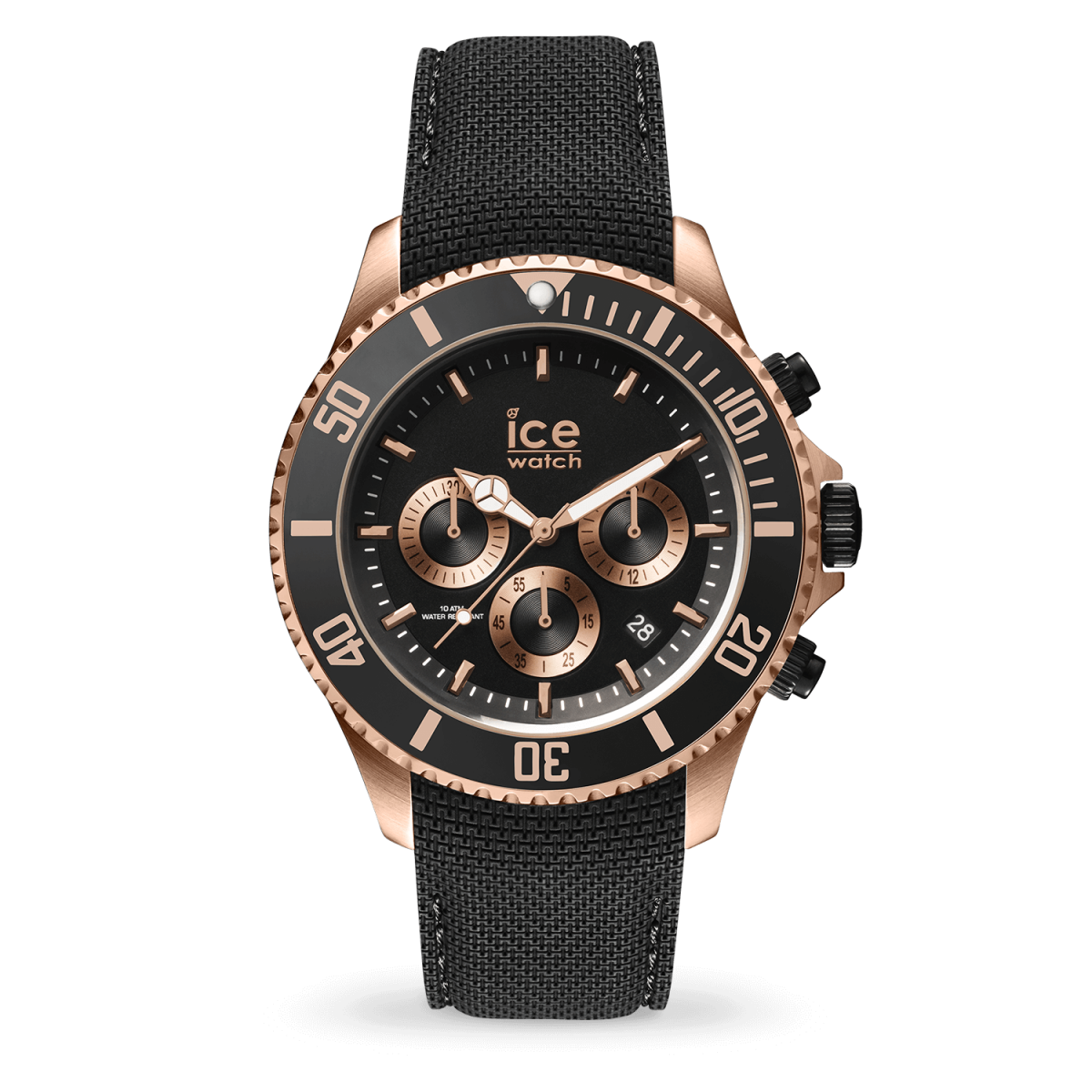 Hodinky ICE WATCH ICE STEEL BLACK ROSE GOLD LARGE