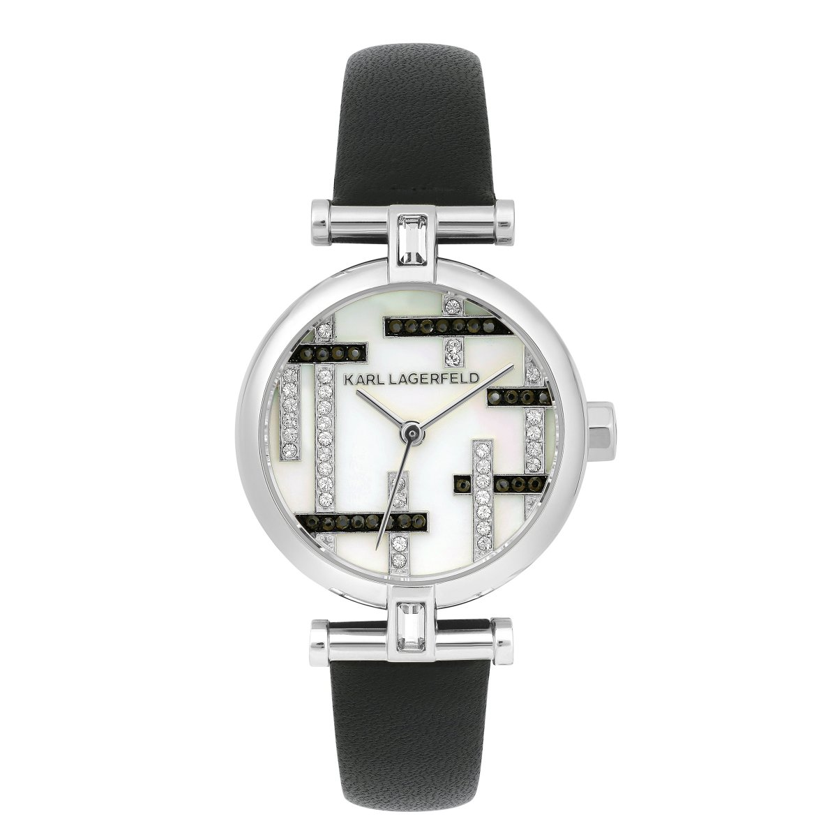 Hodinky KARL LAGERFELD Petite MOP Boucle T-Bar Leather Strap