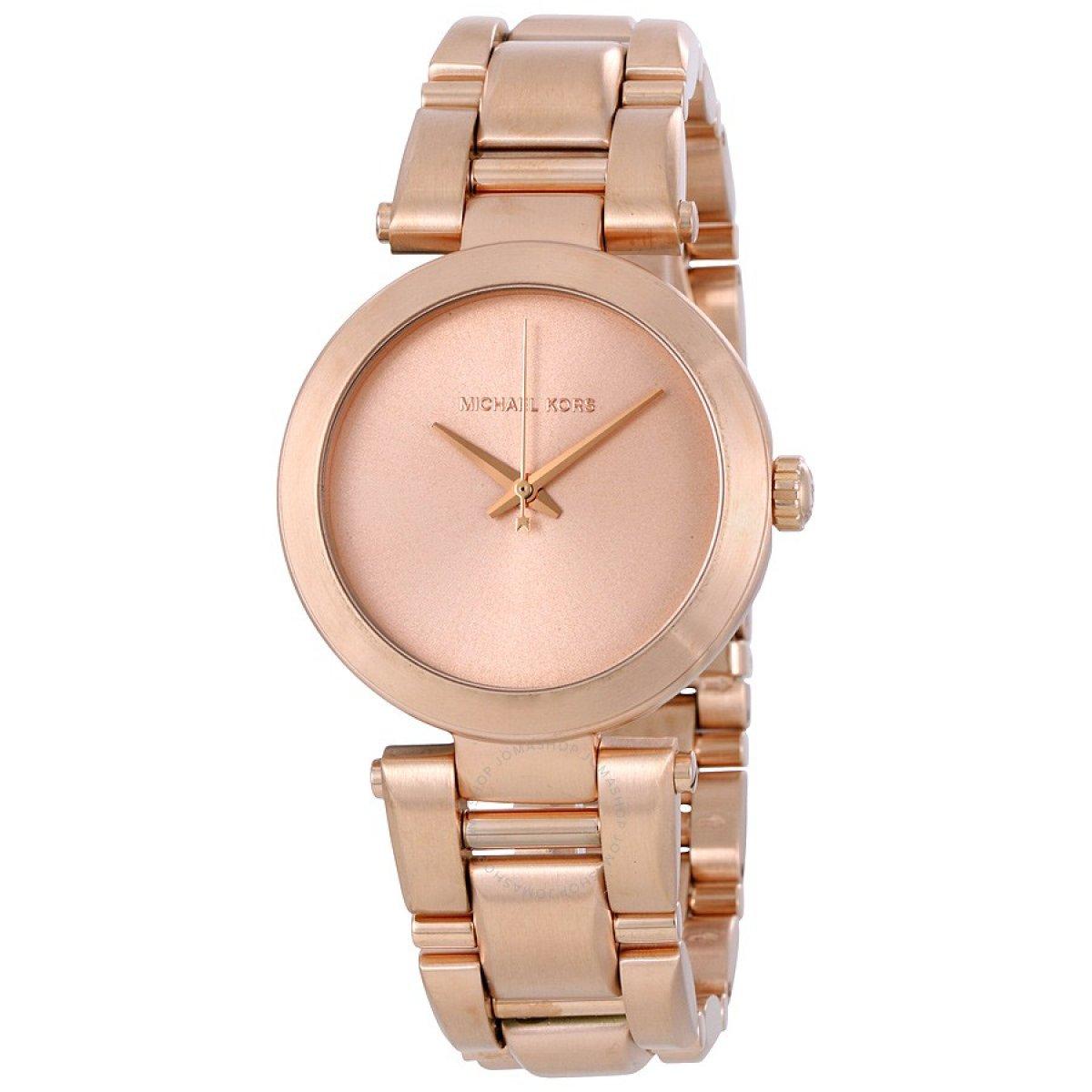 Elegantné hodinky MICHAEL KORS v ružovom prevedení MK3518  bf943348a3a