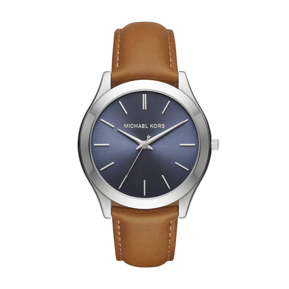 48897d0764 Pánske hodinky MICHAEL KORS s bledo-hnedým koženým remienkom MK8508 ...