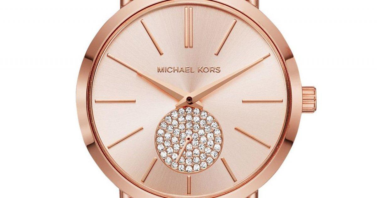 Hodinky MICHAEL KORS v ružovom prevedení MK3845  7c475975680