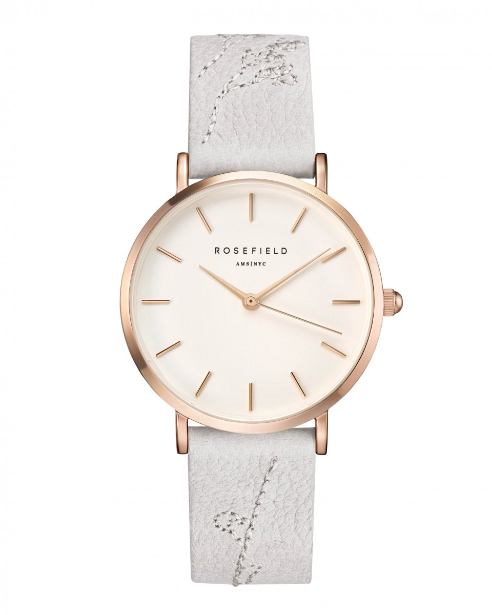 Hodinky ROSEFIELD City Bloom Lily White Rose Gold