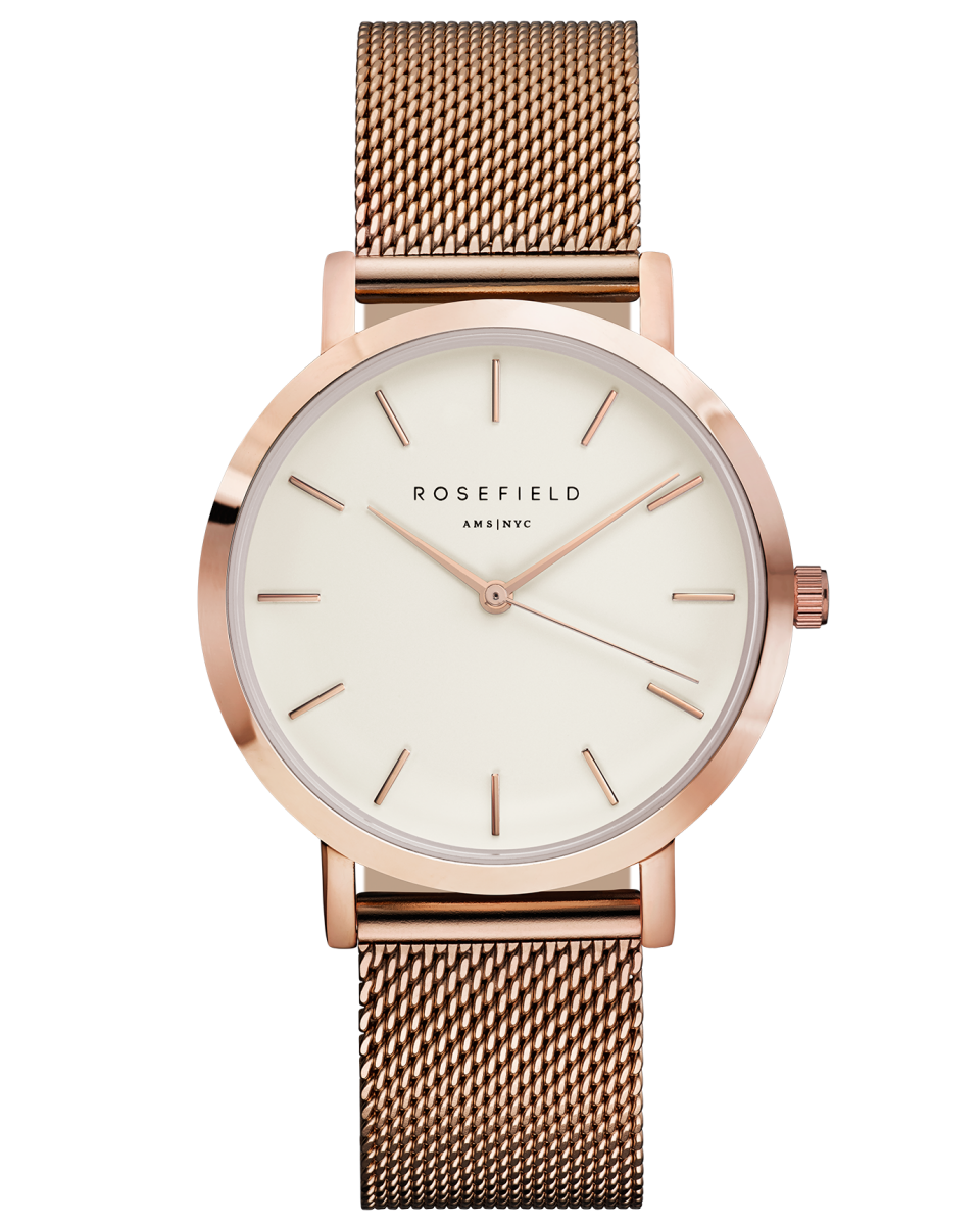 Hodinky ROSEFIELD The Mercer White Rose Gold
