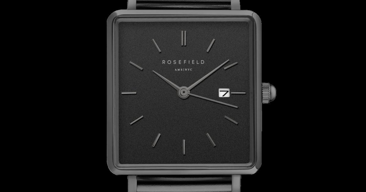 Hodinky ROSEFIELD The Boxy Black Black QBMB-Q04  011184e4df7