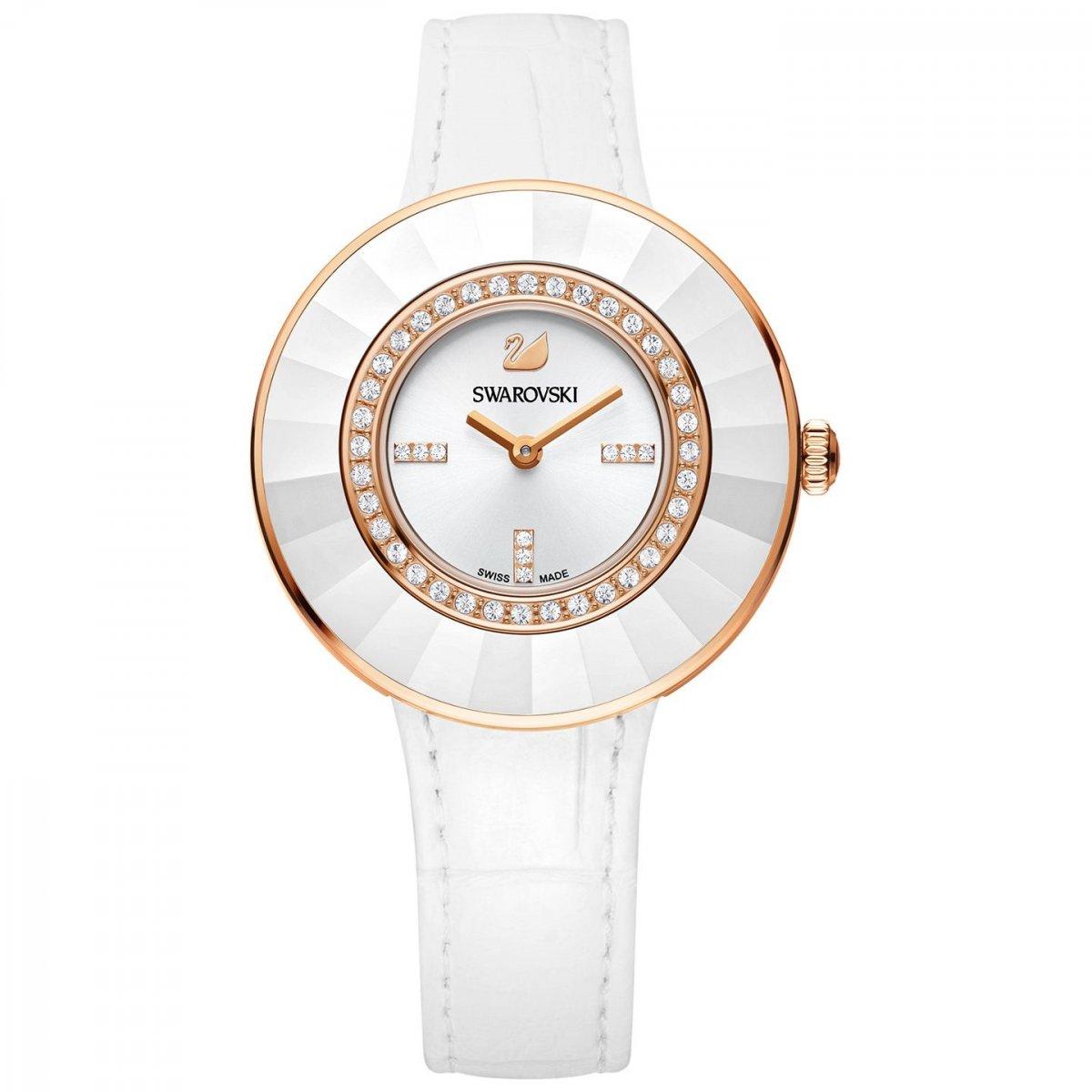 SWAROVSKI hodinky v bielo-ružovom prevedení