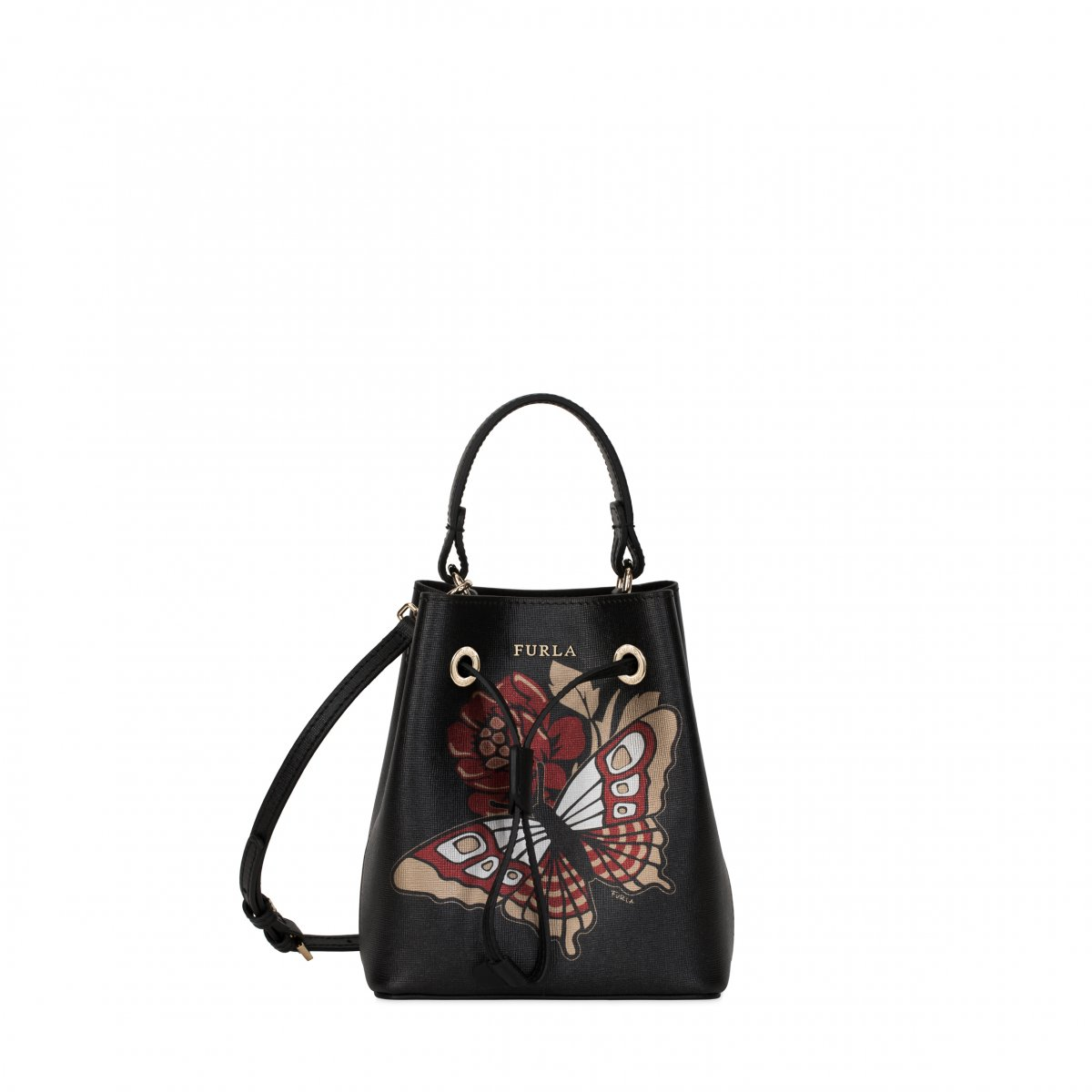 Meštek FURLA Stacy Mini Drawstring Tonio Onyx
