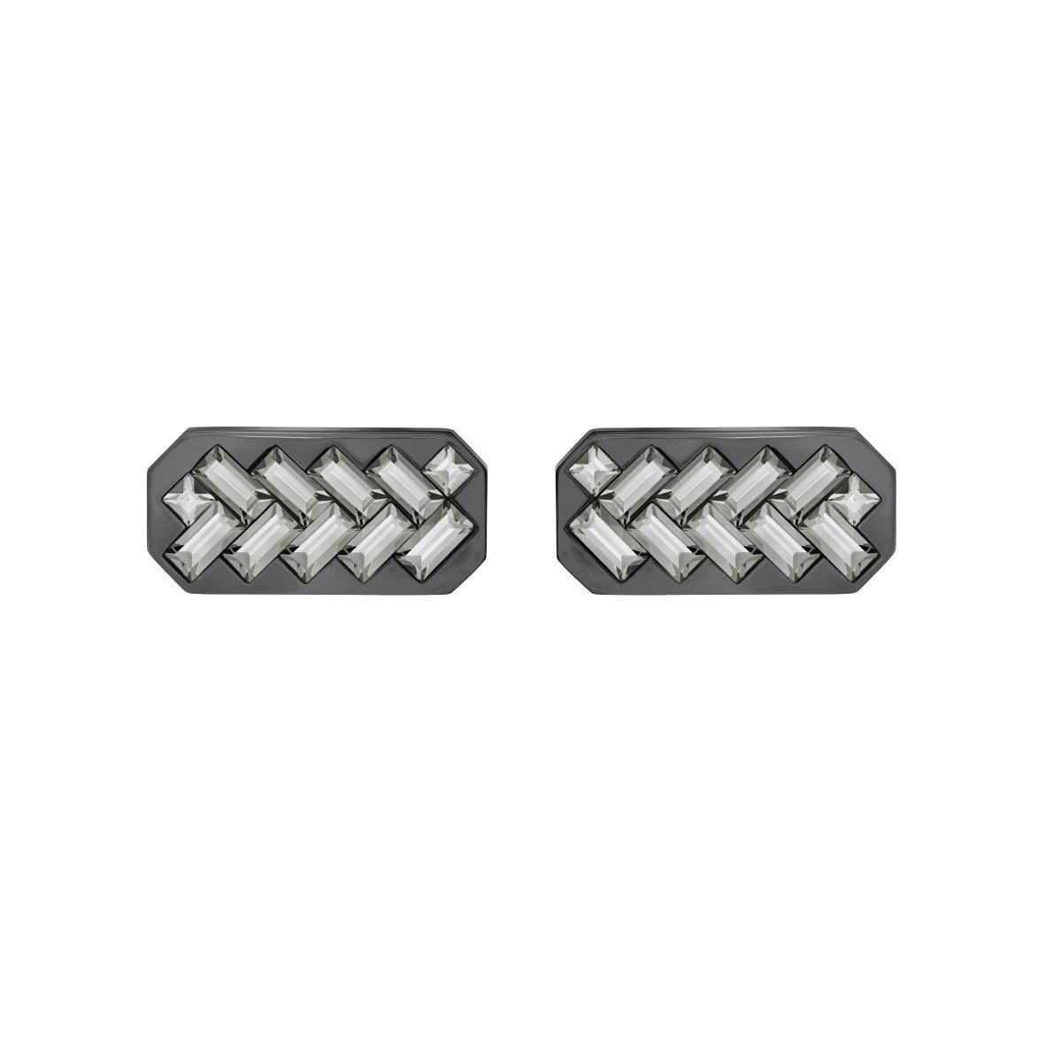 Manžetové gombíky SWAROVSKI so šedým krištálom