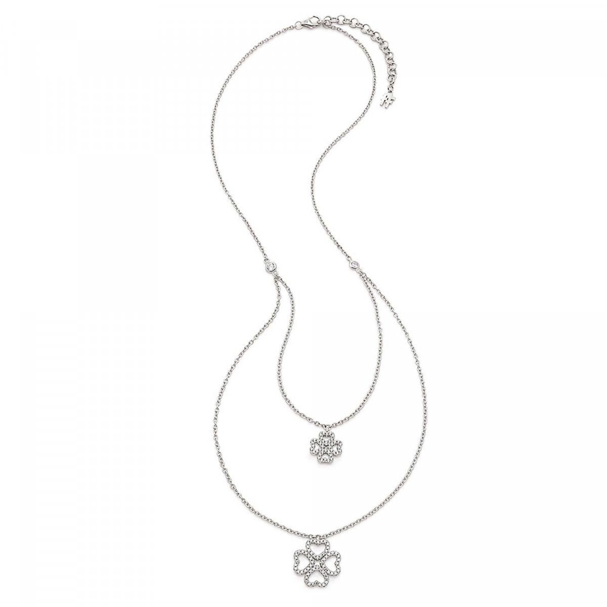 Strieborný náhrdelník FOLLI FOLLIE s motívom srdiečok