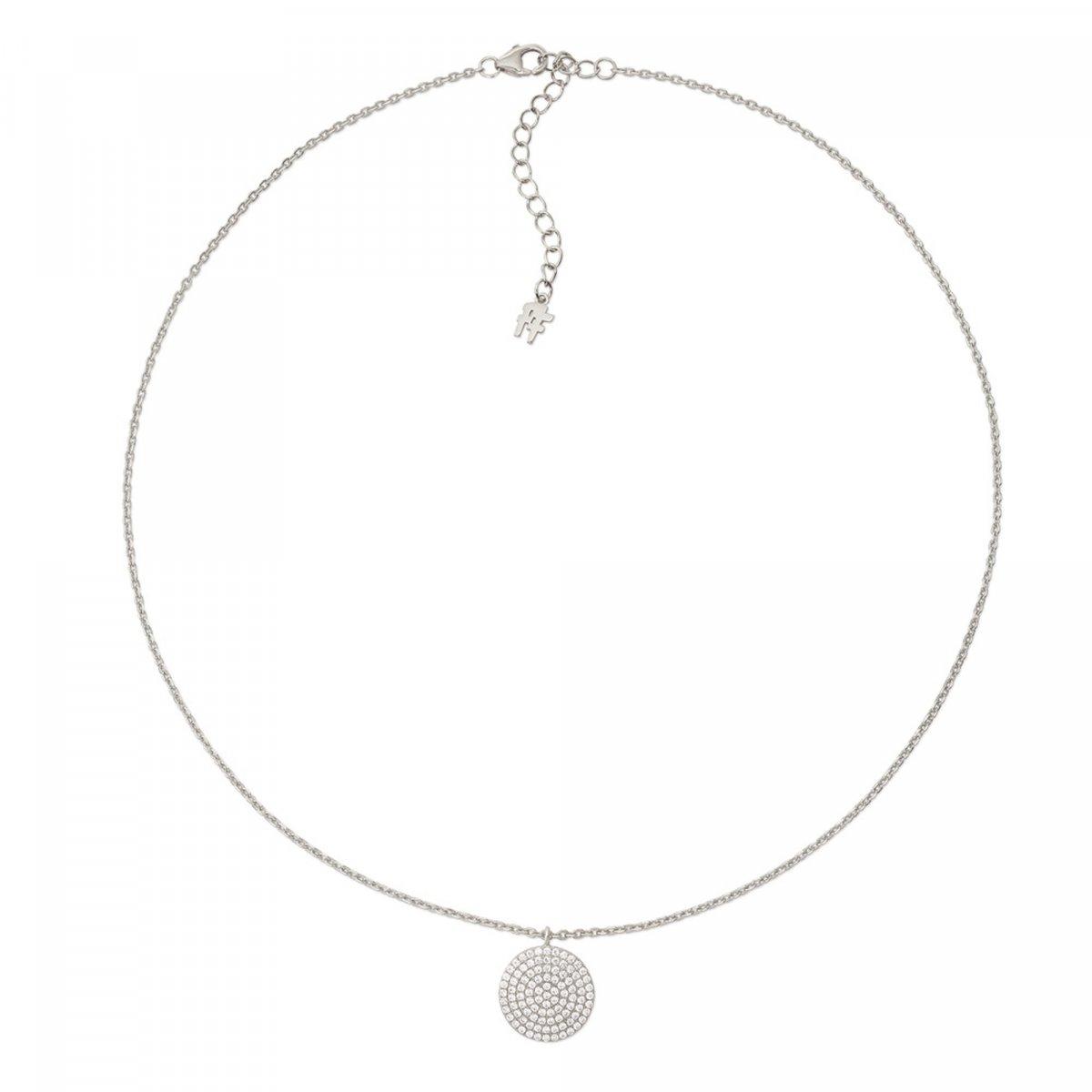 Strieborný náhrdelník FOLLI FOLLIE so zirkónmi