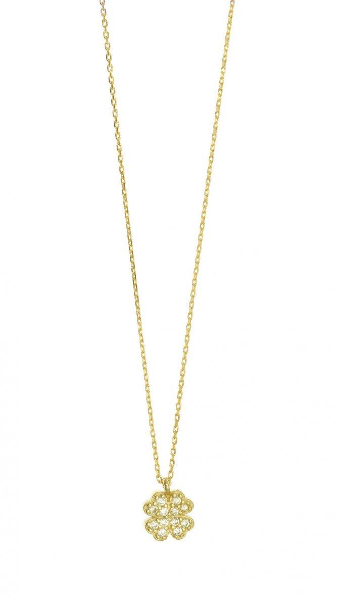 bc455079a Zlatý náhrdelník GREGIO so štvorlístkom 40522G | MOLOKO
