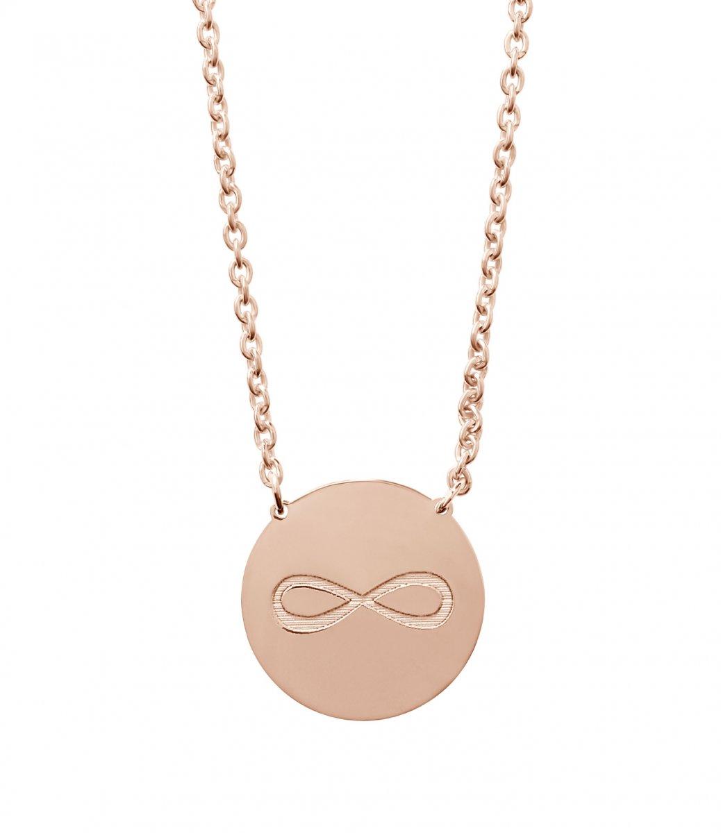Ružový náhrdelník LA VIIDA so symbolom nekonečna