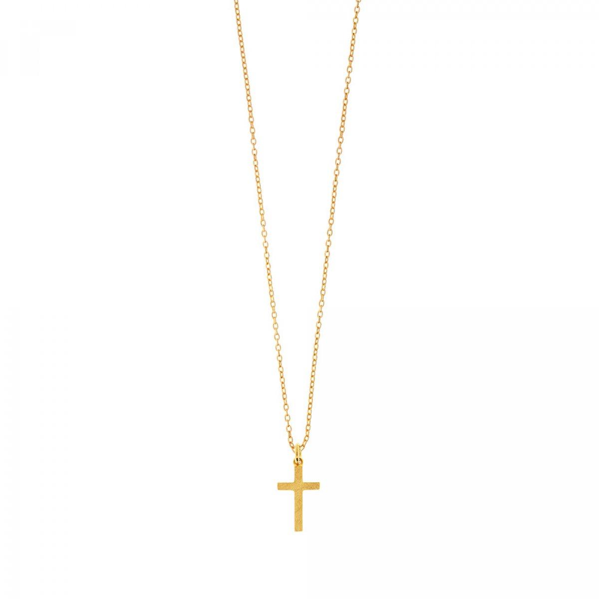 26ae876c7 Zlatý náhrdelník LEAF S krížom HK7055 | MOLOKO