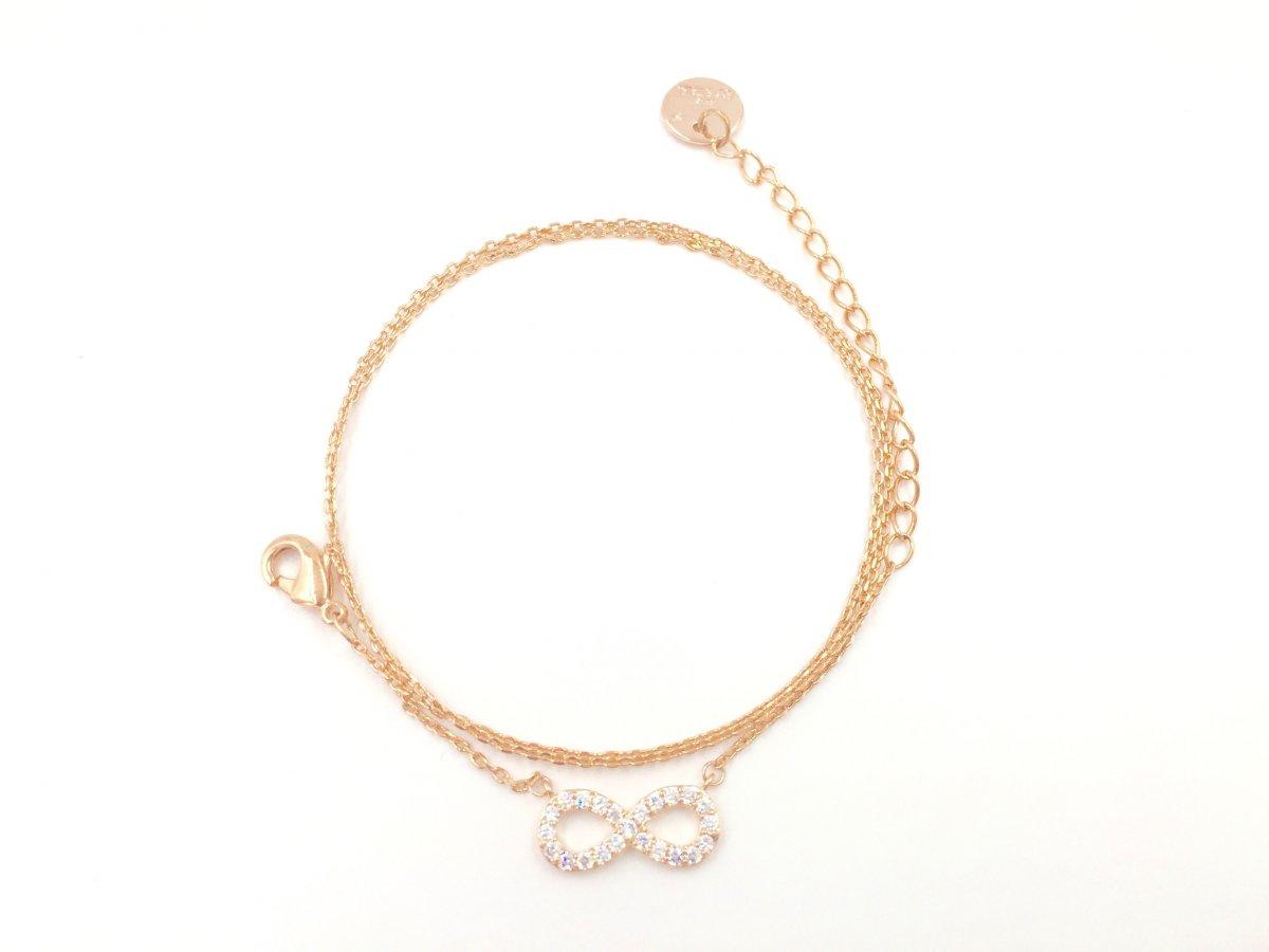 Ružový náhrdelník SEE BY STAR so symbolom nekonečna