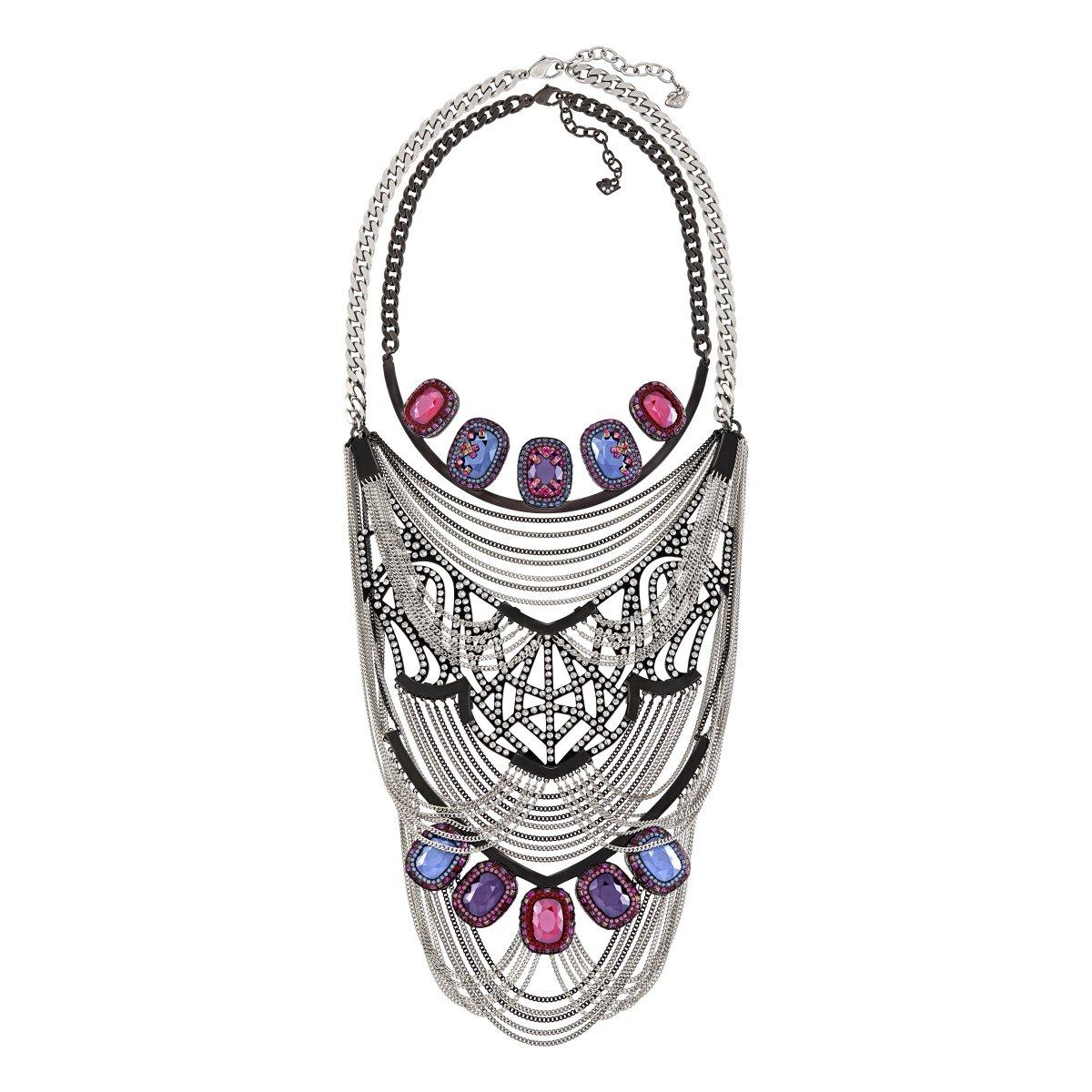 Náhrdelník SWAROVSKI Dark Crystal Necklace Purple