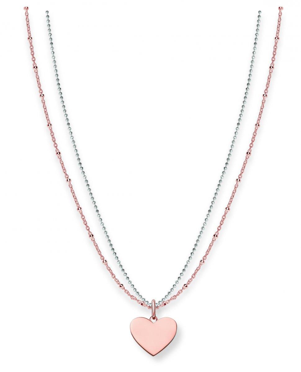 Ružový náhrdelník THOMAS SABO so srdiečkom