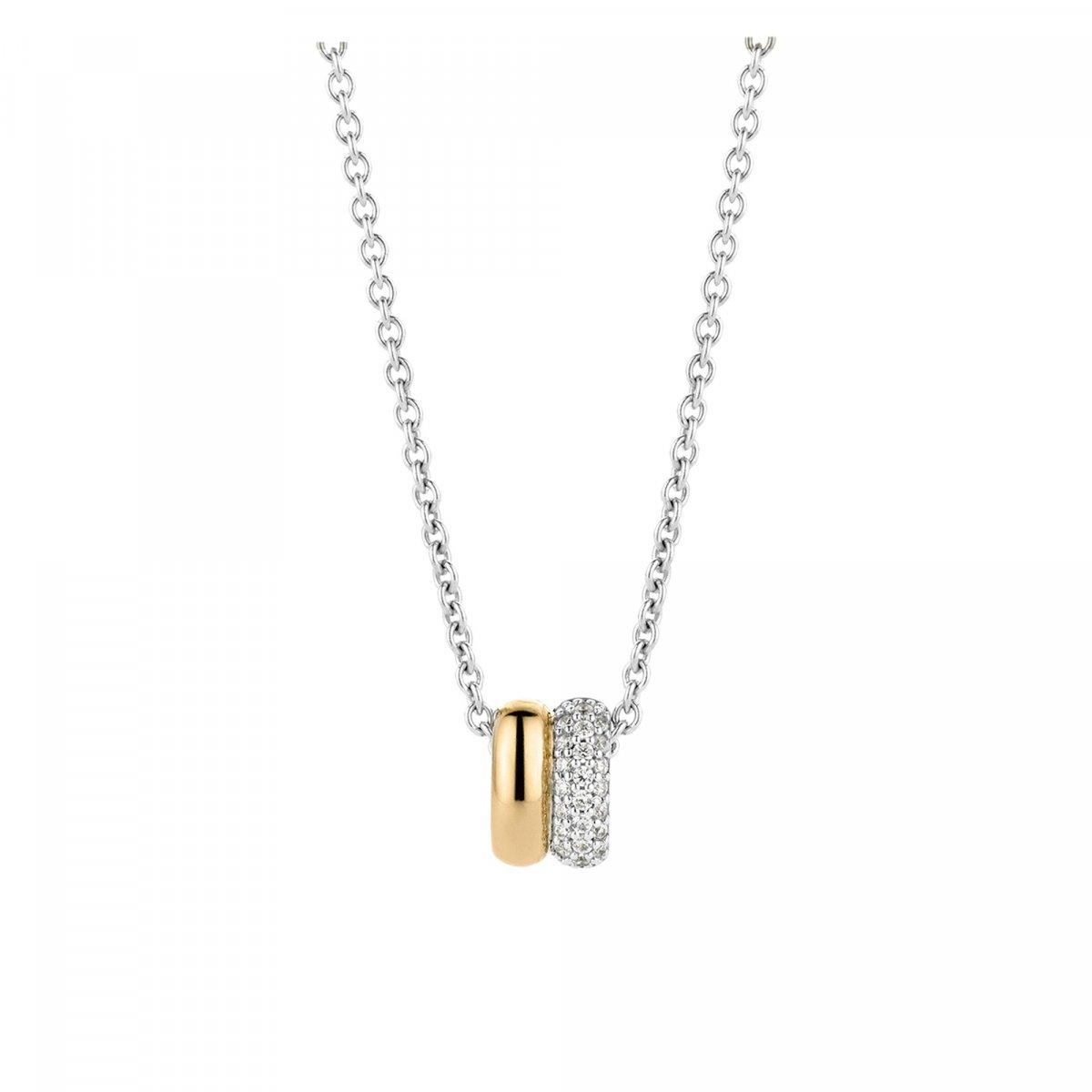 Strieborno-zlatý náhrdelník TI SENTO