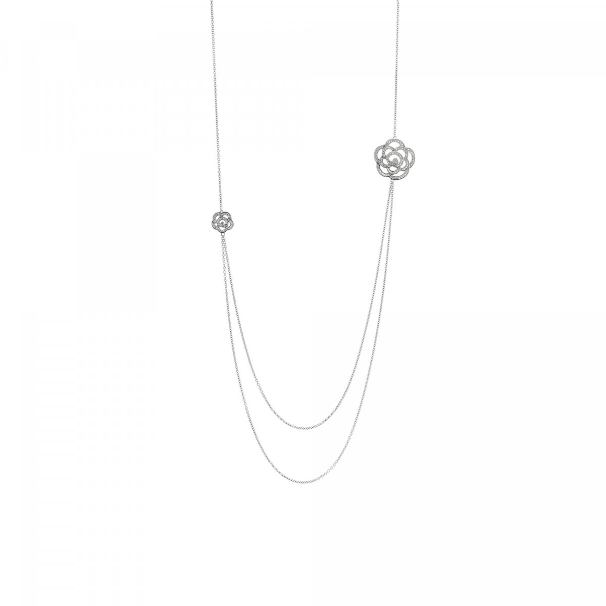 Dvojradový náhrdelník TI SENTO s kvetmi