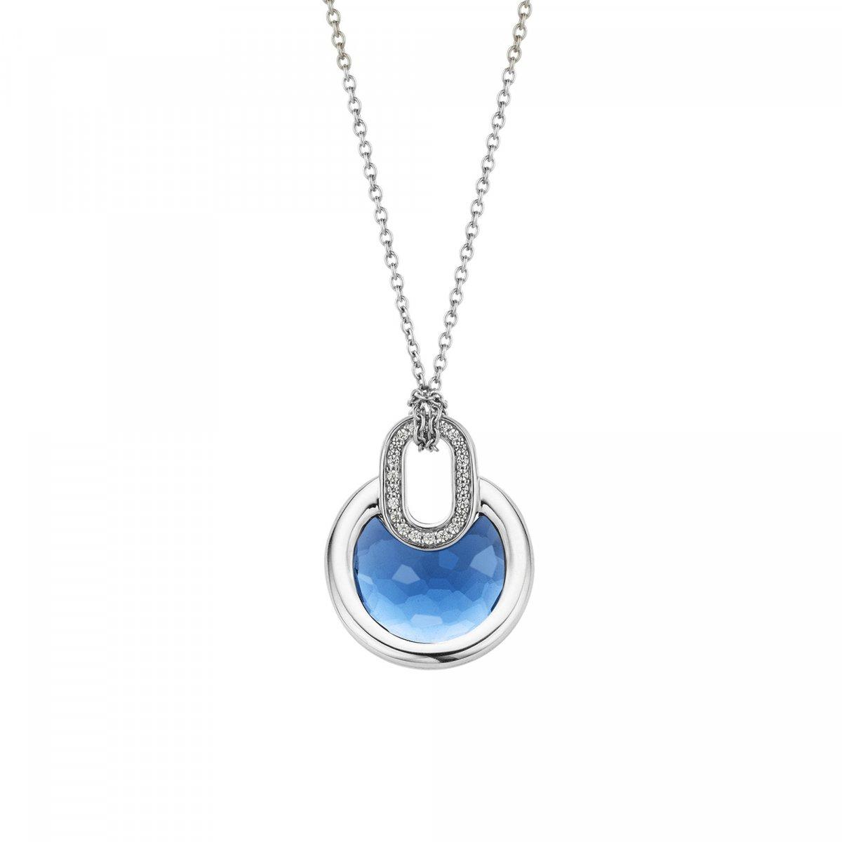 Náhrdelník TI SENTO s modrým krištáľom