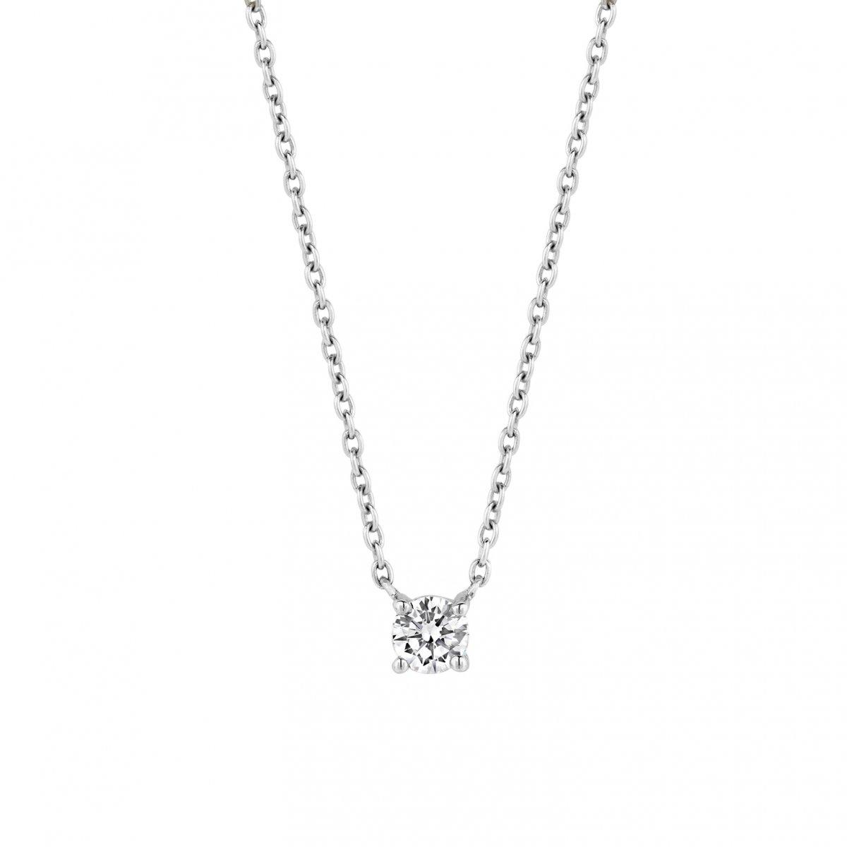 Strieborný náhrdelník TI SENTO so zirkónom