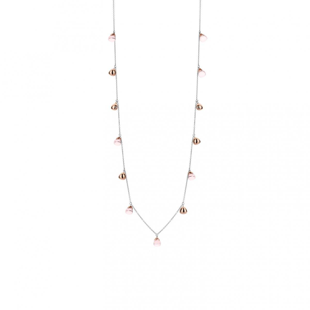 Náhrdelník TI SENTO s ružovými syntetickými kameňmi