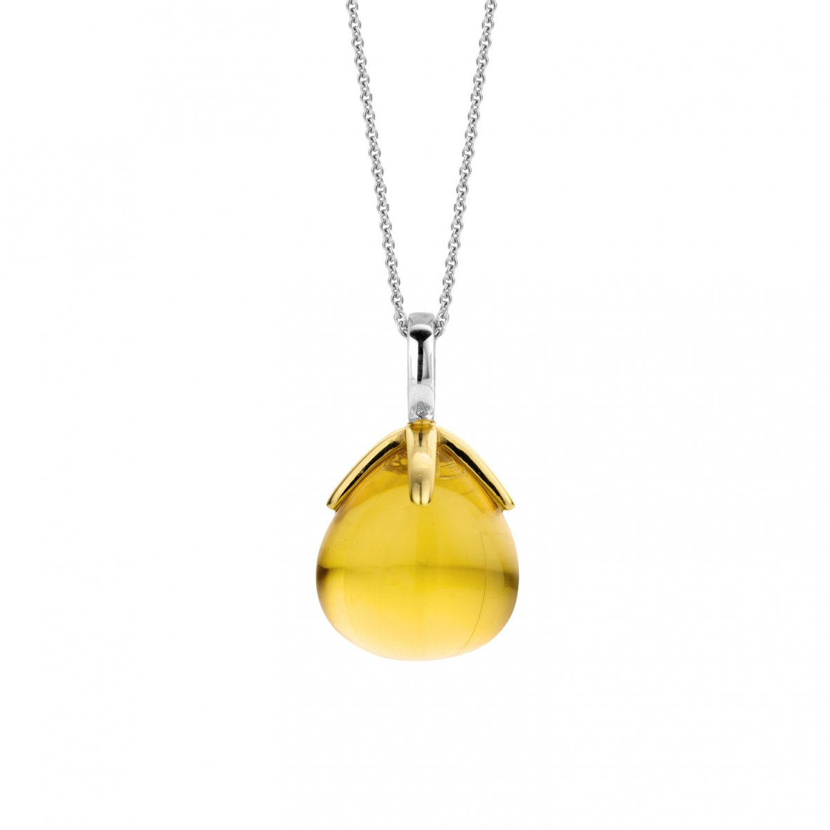 Prívesok TI SENTO so žltým syntetickým kameňom