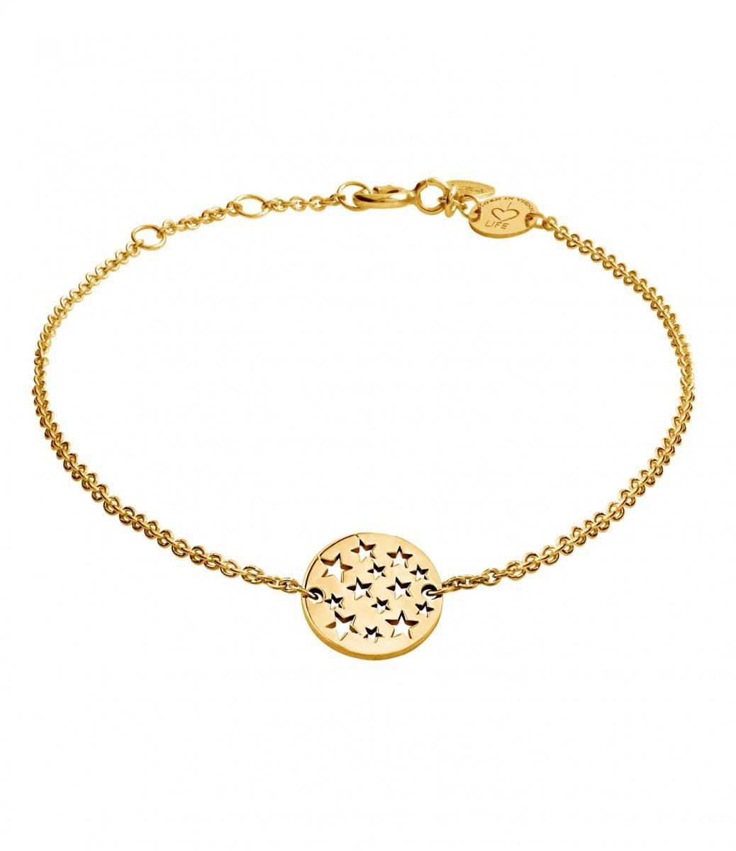 Zlatý náramok LA VIIDA s motívom hviezd