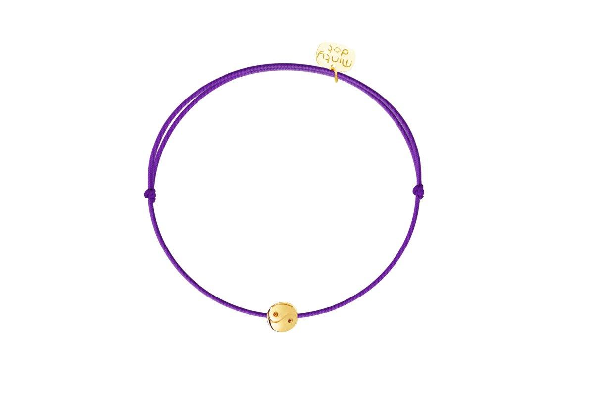 Náramok MINTY DOT Gold-Violet Balance