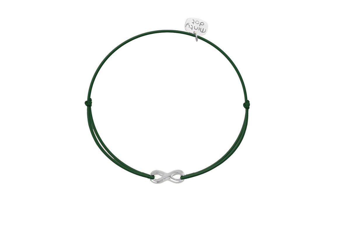 Náramok MINTY DOT Silver-Green Infinity