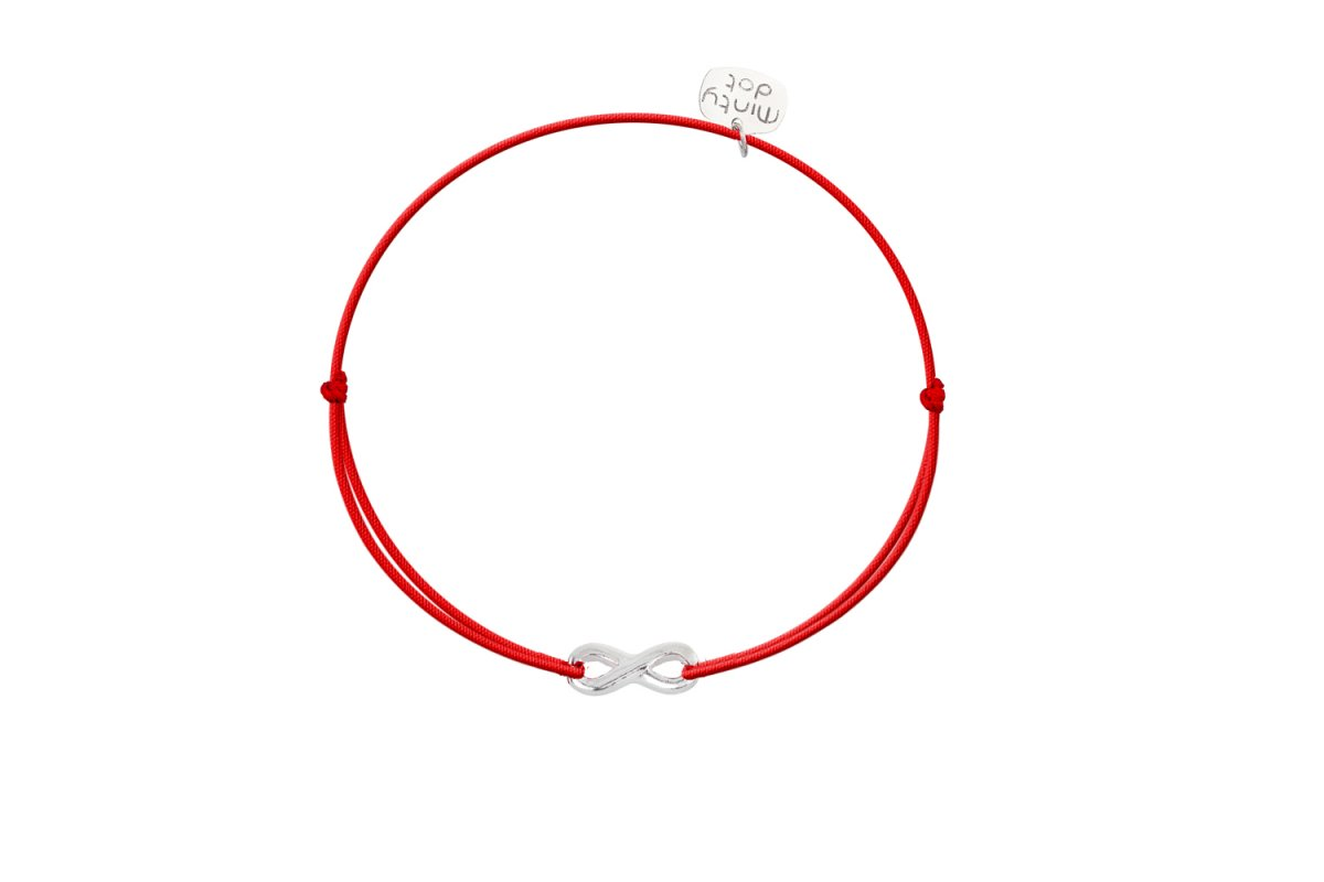 Náramok MINTY DOT Silver-Red Infinity