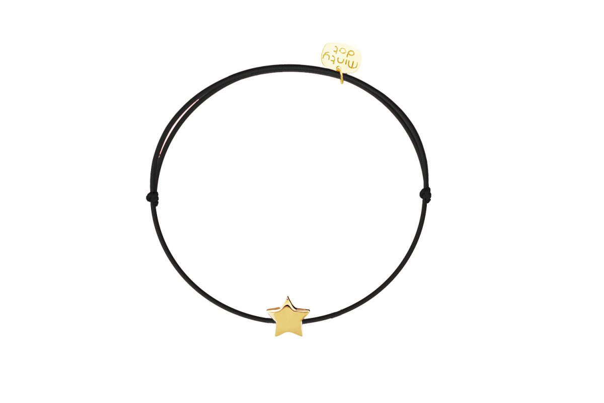 Náramok MINTY DOT Gold-Black Star