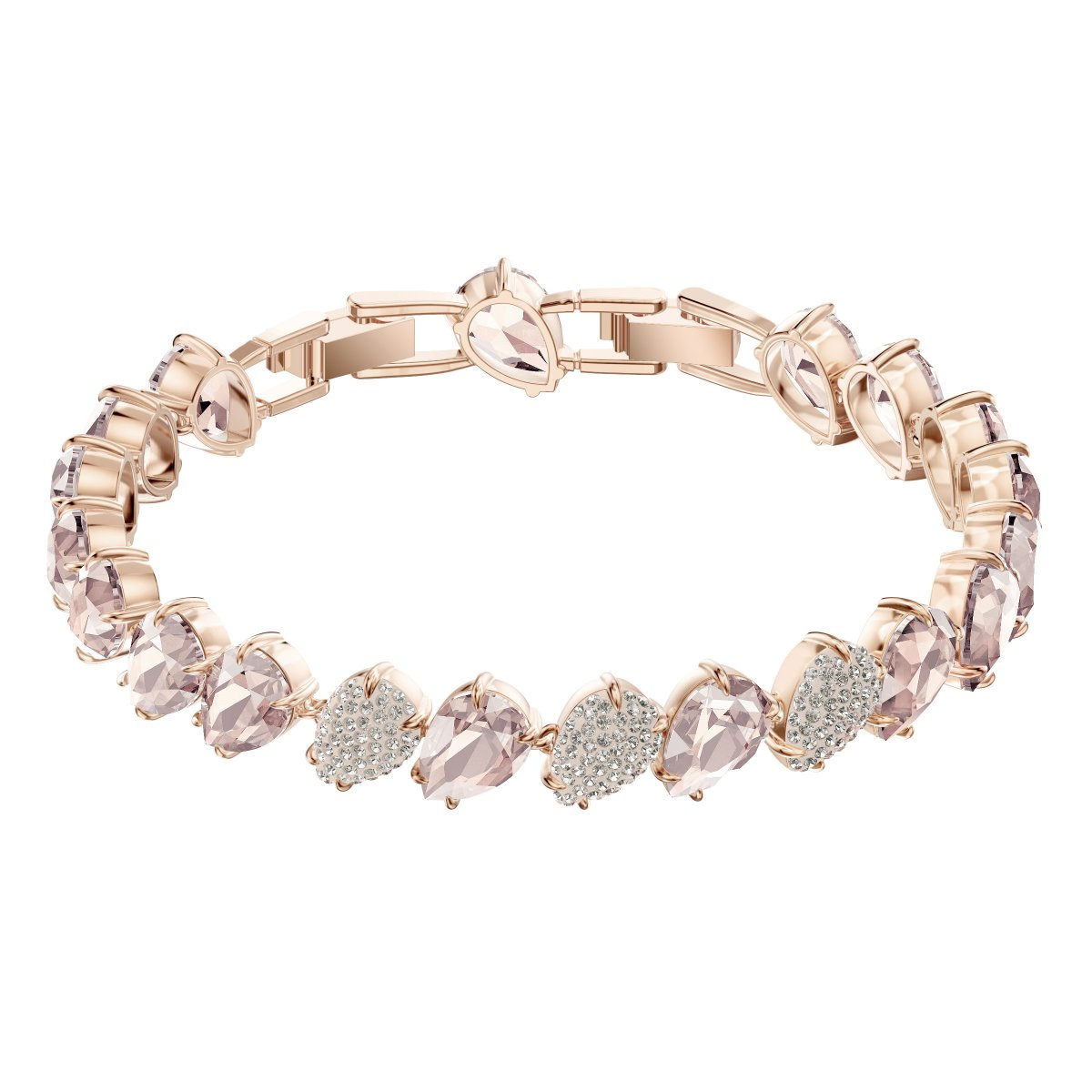 Náramok SWAROVSKI MIX BRACELET, PINK, ROSE GOLD PLATING
